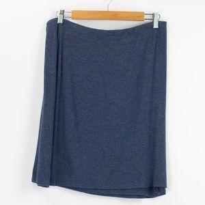 Cynthia Rowley Blue Knit Elastic Waist Skirt